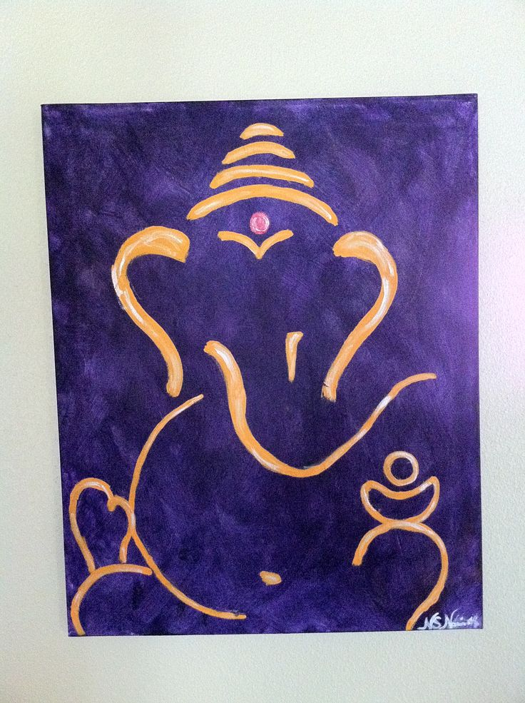 Abstract Ganesh painting I did.