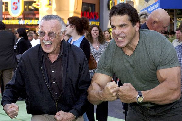 Stan Lee & Lou Ferrigno.  'Nuff Said.    Lou and his wife Carla are amazing people and some of the nicest that you would ever want to meet.