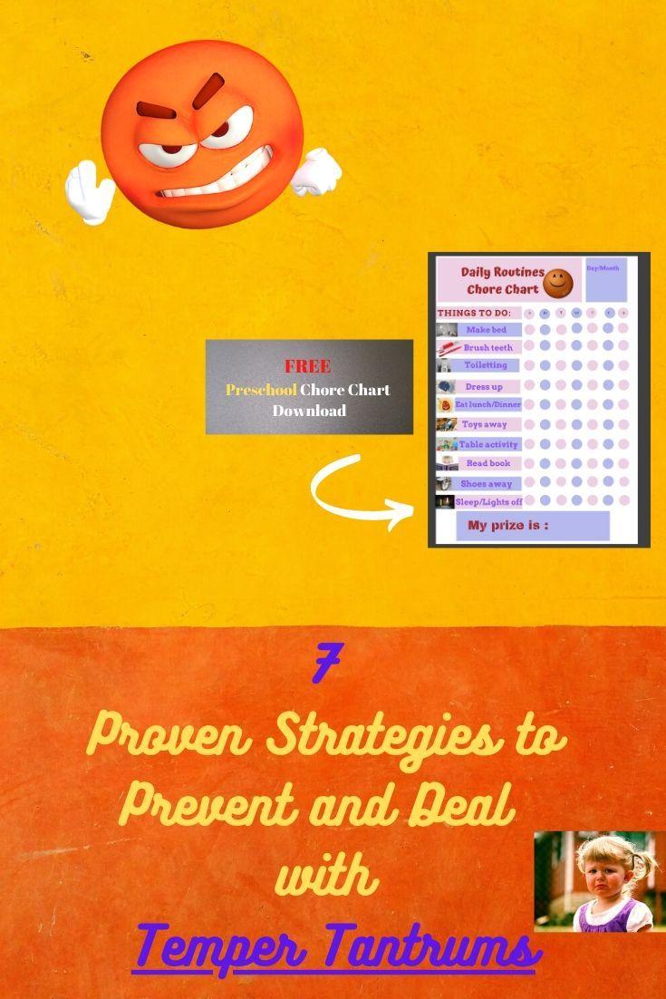 Kids Temper Tantrums 7 Effective Strategies Kid Temper Tantrum Temper Tantrums Preschool Chore Charts