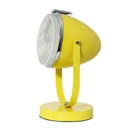 Tafellamp industrieel – spot -gele kleur.