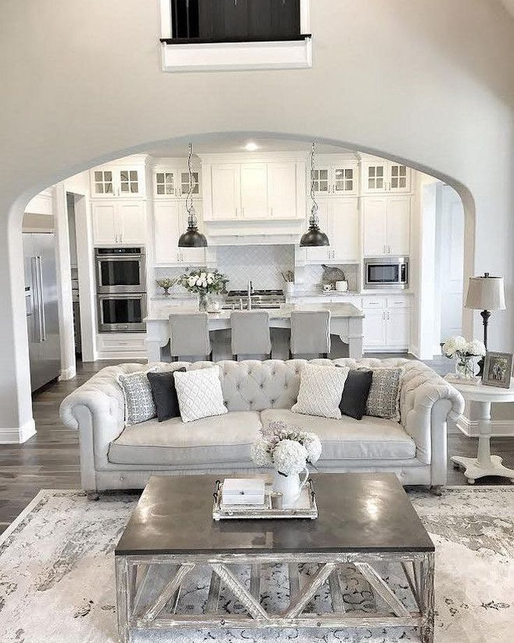 Beautiful DesertRose Interiordesign Home Design Open LayoutLiving Room ColorsGrey Living RoomsGray Family RoomsSilver