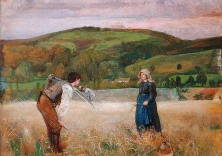 A field of barley... For more romantic art: http:/www.romantic-ideas-online.com