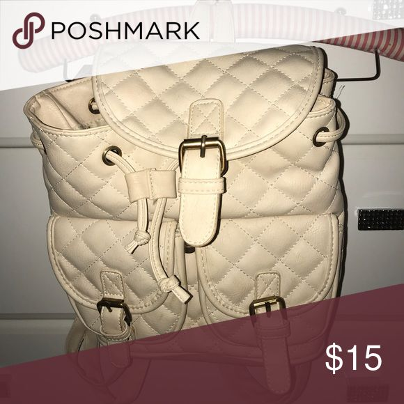cream backpack cream backpack used a few times still has lots of life in it :) PINK Victoria's Secret Bags Backpacks