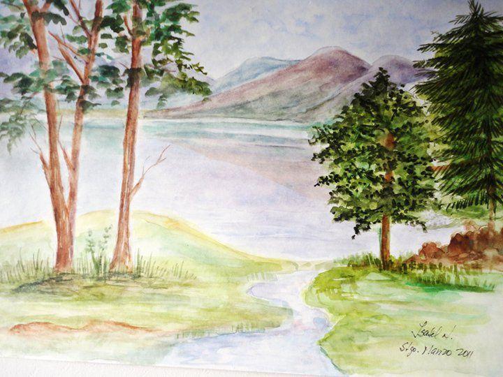 Isabel Nuñez C. pintado en Acuarela