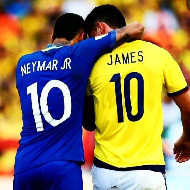 Neymar Jr and James Rodriguez