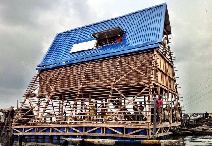 NLE architects: floating school in makoko