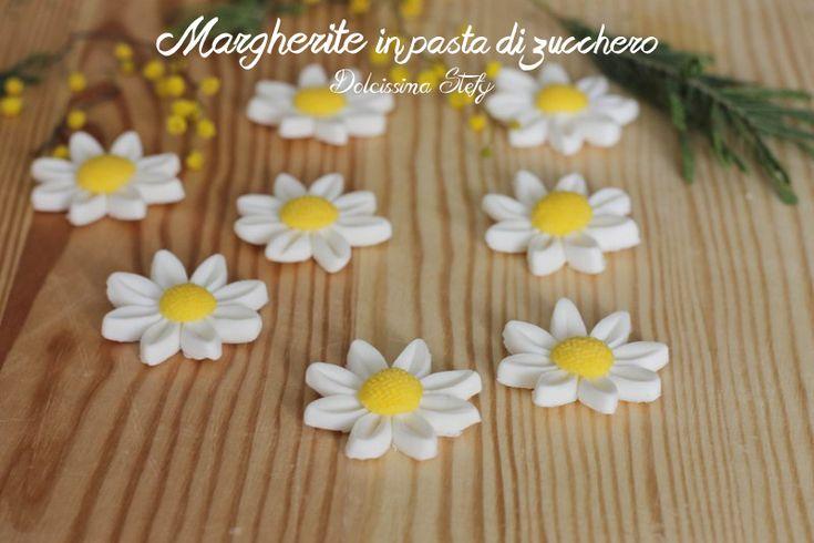 Margherite in Pasta di Zucchero,tutorial