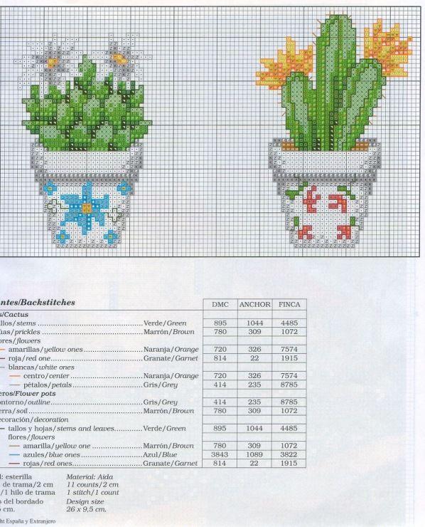 fleur - flower - castus - point de croix - cross stitch - Blog : http://broderiemimie44.canalblog.com/