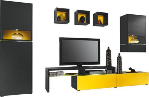 Elegantes Media Wohnregal in Lack Weiß Hochglanz Das Fernsehfach - schlafzimmerschrank mit fernsehfach
