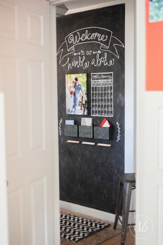 "Erica's ""Chalkboard Command Center"" Entryway Makeover — Makeover: Decorating Project 