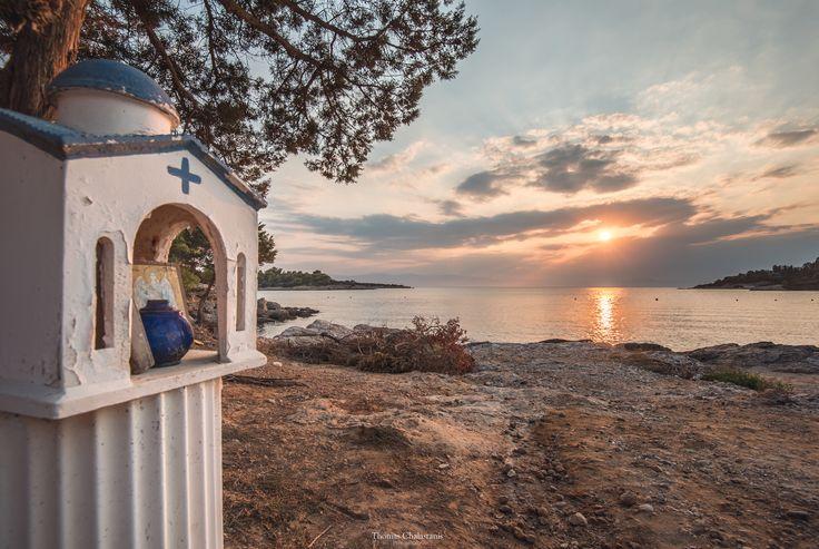 Hinitsa beach @ Porto Heli. Sunset in Greece is amazing.