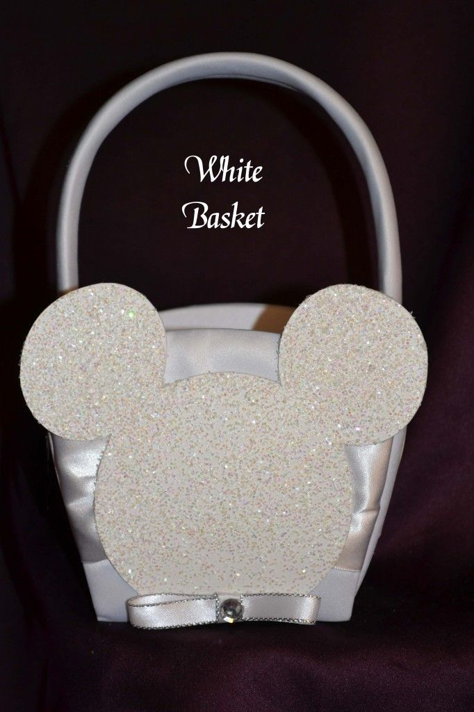 Flower Girl Basket Montreal : Mickey mouse weddings flower girl basket