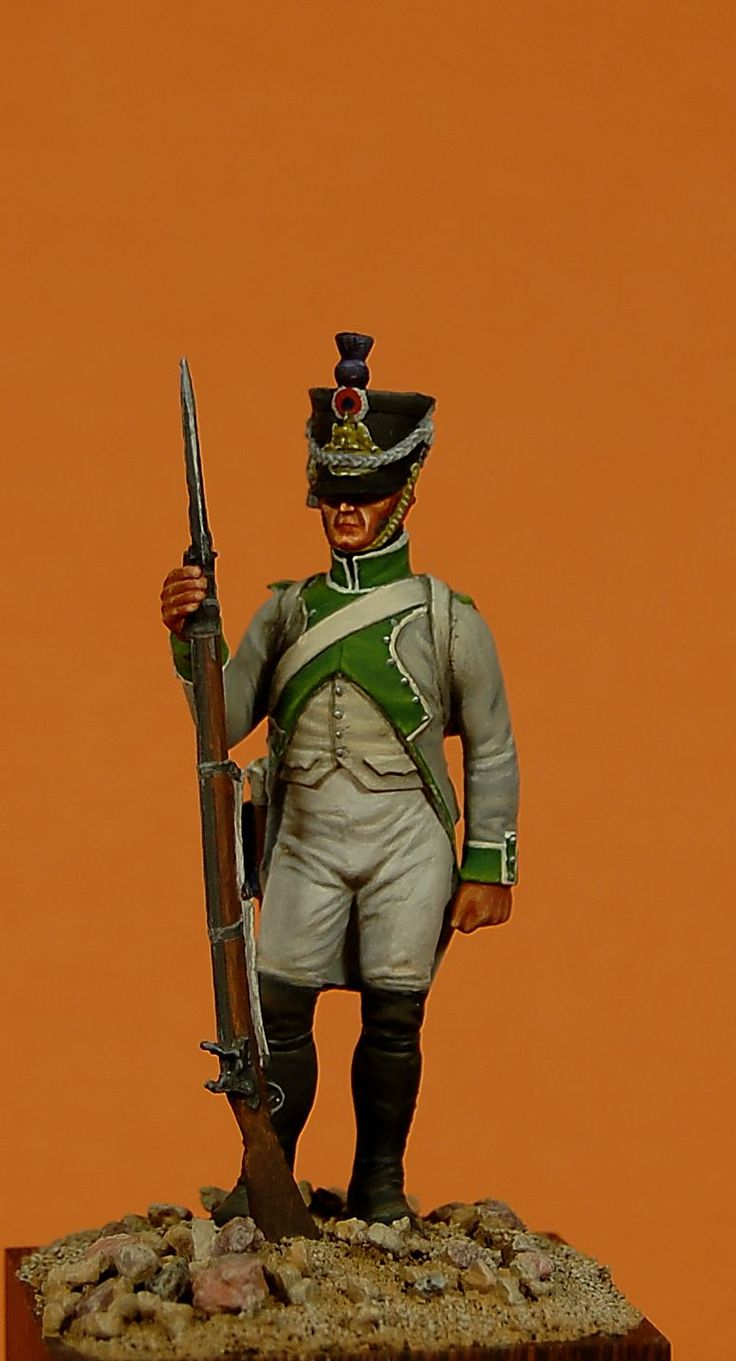 3th Line Infantry, Fusilier, 1807 Paint by A. Lebedev