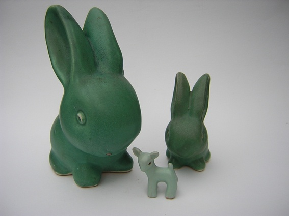 Denby pottery bunnies
