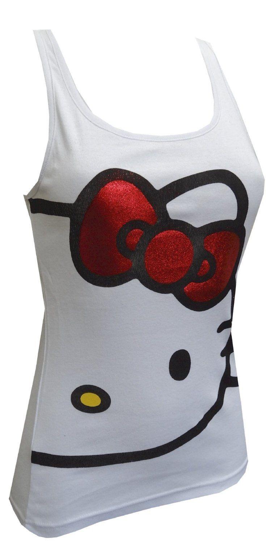 Amazon.com: Hello Kitty Athletic Style Tank Top With Keyhole Back for women (Medium): Clothing