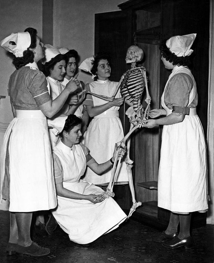The NHS nurses in 1948