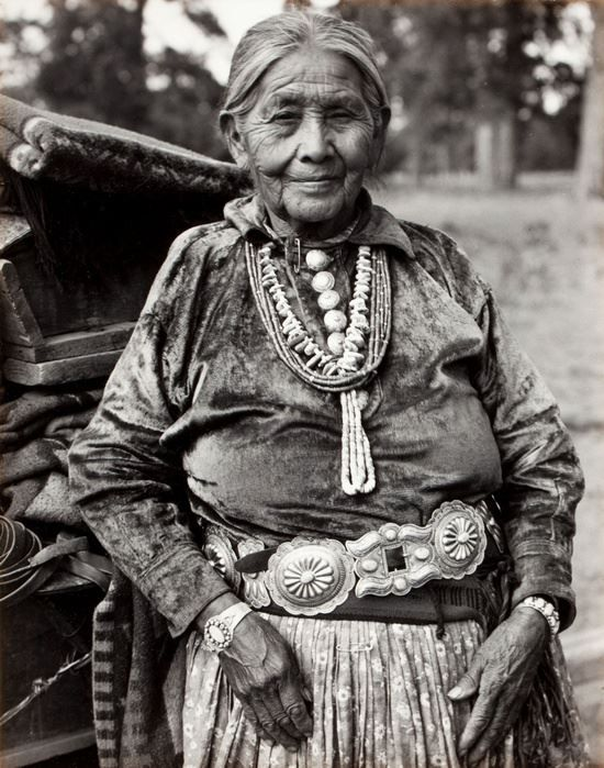 Navajo Woman with Jewelry, c.1934 by photographer Laura Gilpin