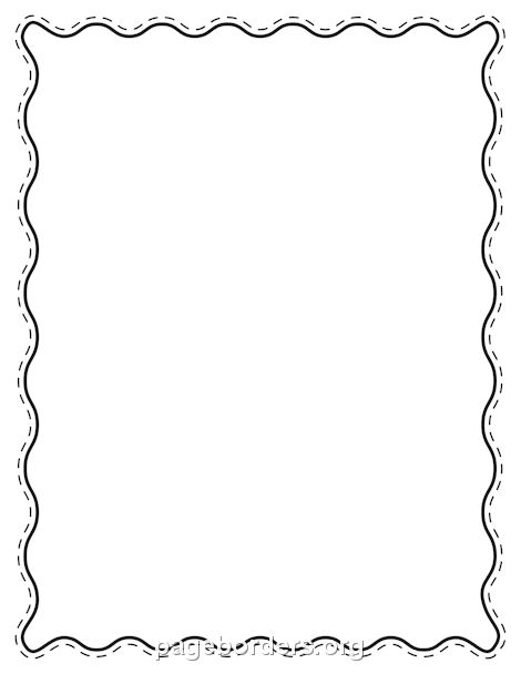 Printable Black Wavy Border. Use The Border In Microsoft Word Or Other  Programs For Creating