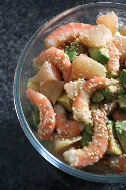 The Cook Time: Salade de crevettes, avocats et suprêmes de pample...