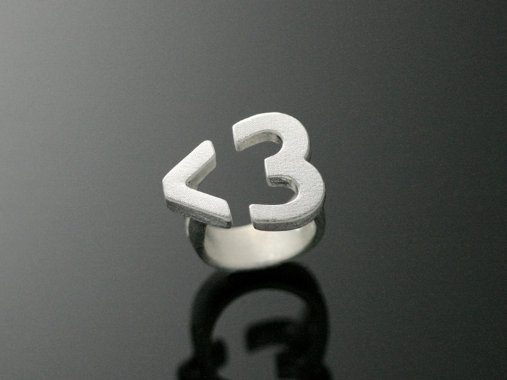"""Chao & Eero, """"Heart"""" ring, in sterling silver. 