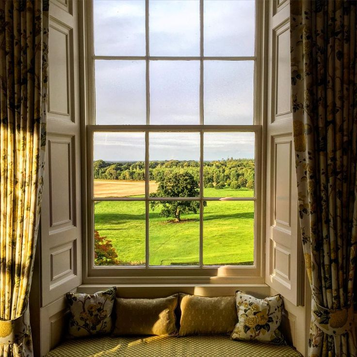 Room with a view.... Staying for a couple of nights in Scotland at the house we are working on.... Beautiful light this evening  @mccormickcharlie
