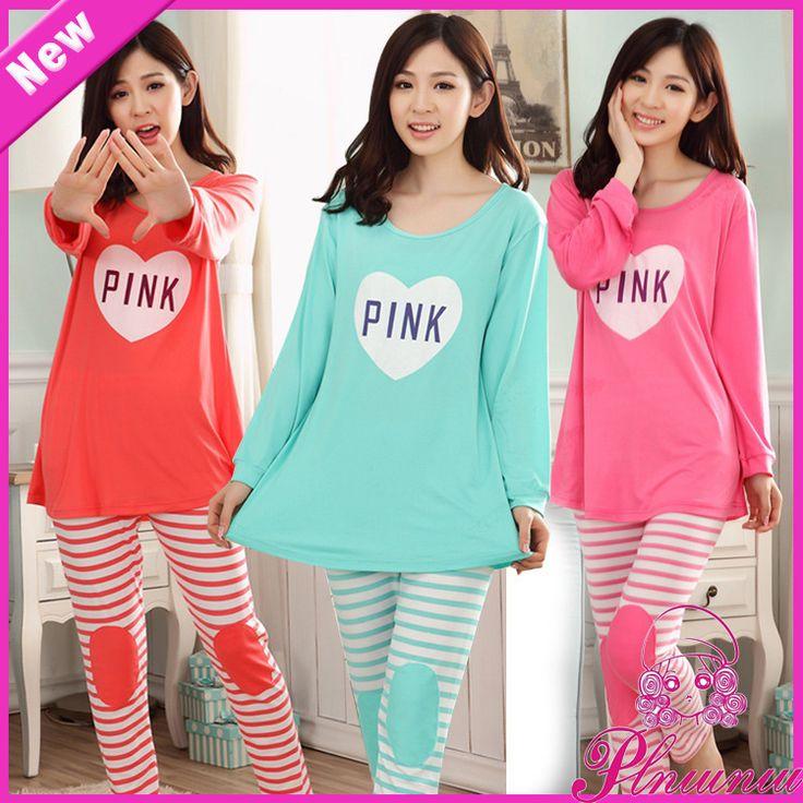 Korean Version Of The Spring And Autumn Tracksuit Pajamas Cotton Pajamas New Women's Long Sleeve Suit, Ms. Pyjamas