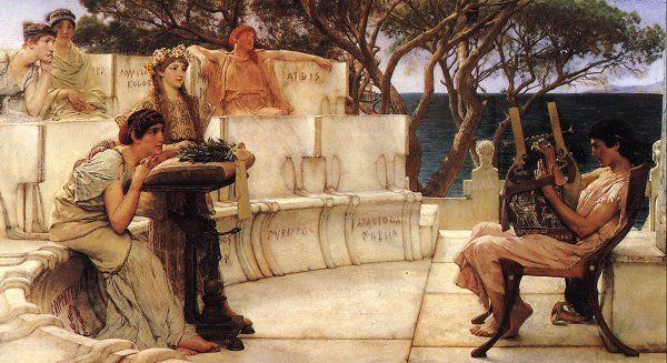 sappho and acc Alma-Tadema