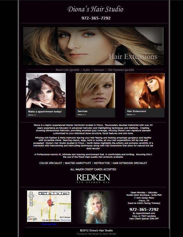Frisco Hair Stylist. Engaging Website