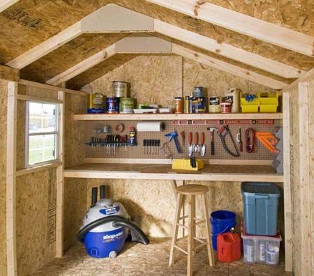Small Shed Workshop Ideas Diy Backyard Shed Workshop