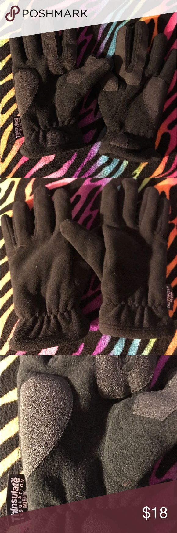 Leather thinsulate gloves 🏔 Thinsulate insulation leather gloves. My fingers are way too short for them but they will keep your hands warm. Offers welcome 💁 Thinsulate Accessories Gloves & Mittens