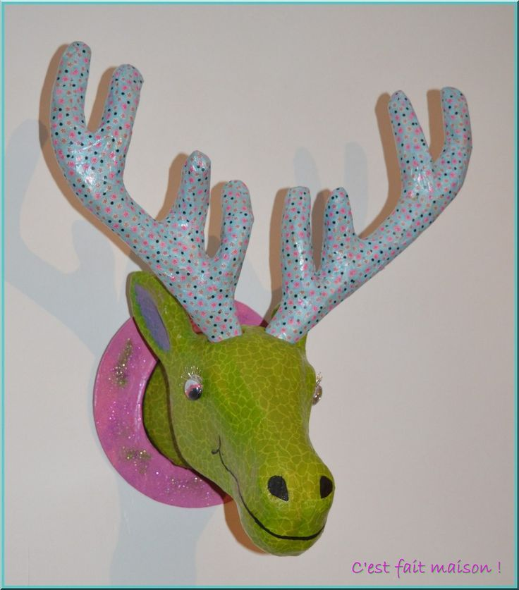 1000 ideas about tete de cerf on pinterest cerf t te - Applique murale tete de cerf ...