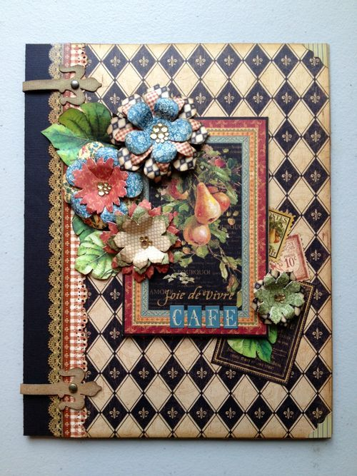 Amazing French Country mini album by Maria Cole! #graphic45 #minialbums