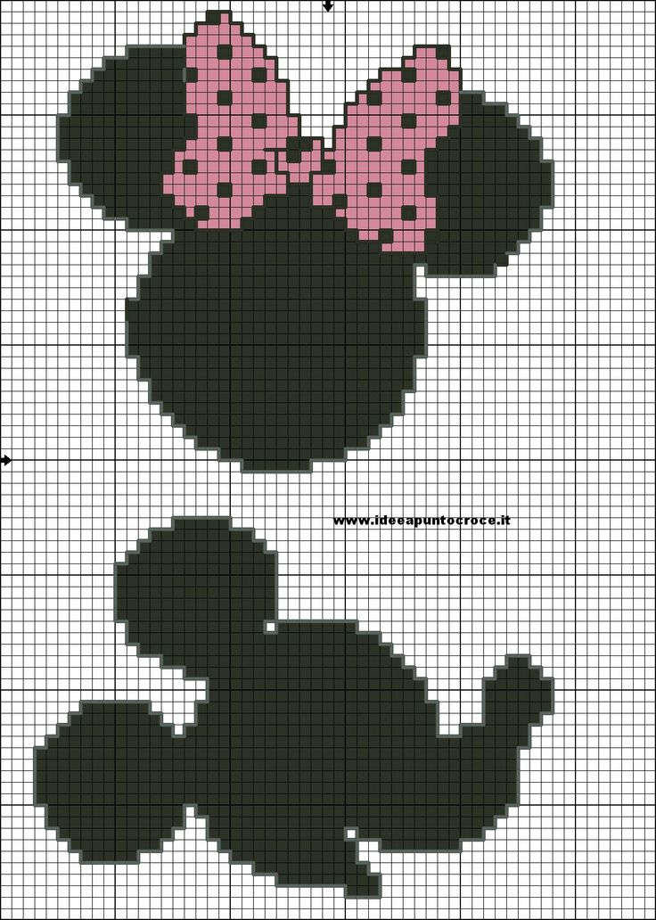 Siluetas Mickey y Minnie