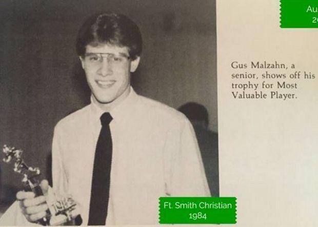 Gus Malzahn 1984 - Auburn's football coach has a small school to thank for his career.