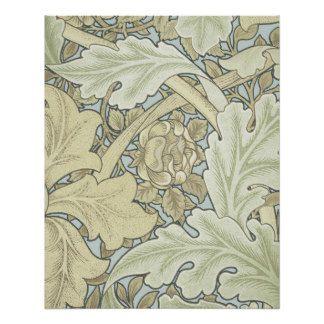Vintage Designer Art Nouveau Floral Pattern Perfect Poster
