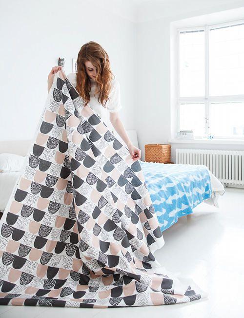 "We love Kauniste's new fabric ""Sokeri"", which means sugar..."