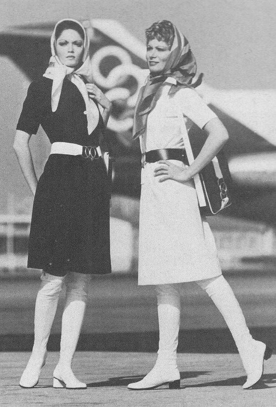 Olympic Airways Air Hostesses circa 1972