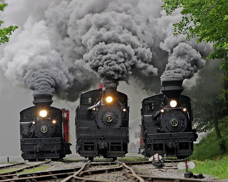 Trenes antiguos.