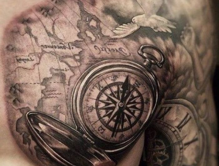 Mann brust tattoo 110 Beste
