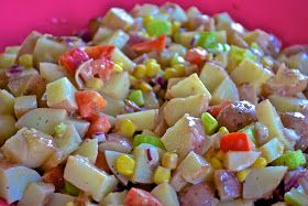 """""""Point-less"""" Meals: BBQ Potato Bacon and Corn Salad"""