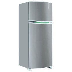 Adesivo para envelopamento de geladeira Prata
