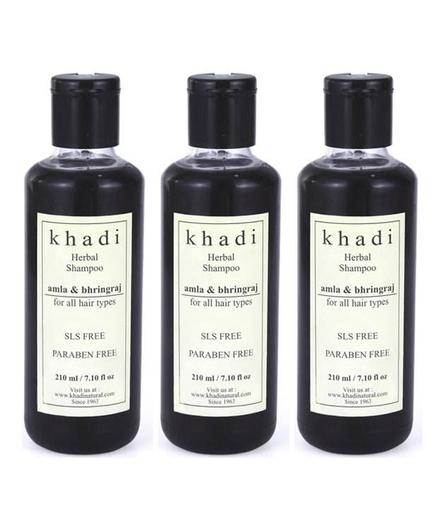 Khadi Amla And Bhringraj Shampoo  - Tripack 630Ml, http://www.snapdeal.com/product/khadi-amla-and-bhringraj-shampoo/251062976