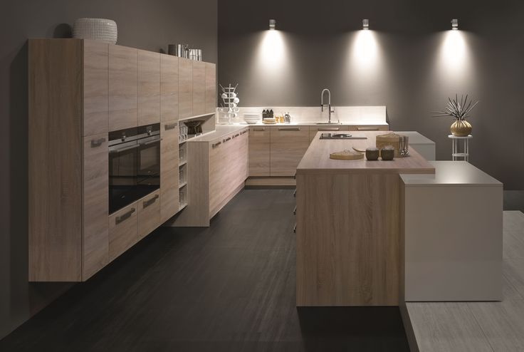 KH Küche: Eiche Sonoma / Hochglanz Lackiert Kaschmir KH Kitchen: Oak Sonoma  Horizontal / High Gloss Lacquered Cashmere | Pinterest | Met, Cashmere And  ...