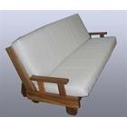 Divano letto con futon in legno a incastro - Leia (divano letto in legno (struttura))