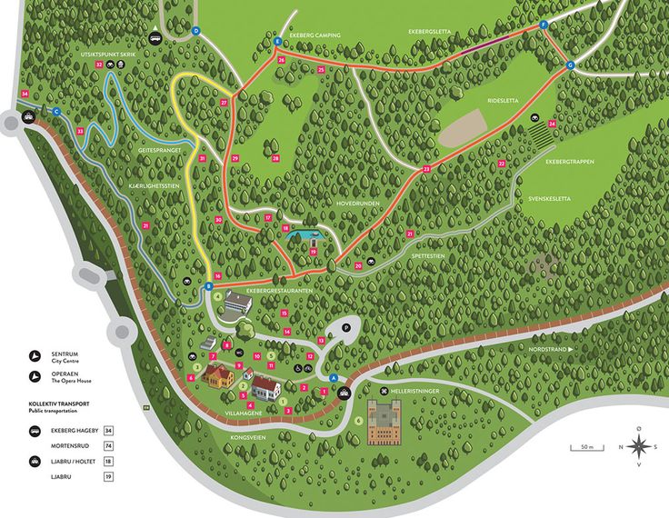 Kart | Ekebergparken
