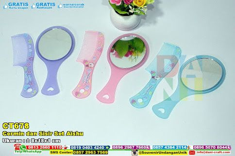 Cermin Dan Sisir Set Aishu Hub: 0895-2604-5767 (Telp/WA)cermin set, kaca set, cermin unik, cermin variasi model, cermin plastik, cermin souvenir pernikahan, cermin murah, cermin cantik #cerminvariasimodel #cerminset #kacaset #cerminsouvenirpernikahan #cerminunik #cerminplastik #cermincantik #souvenir #souvenirPernikahan