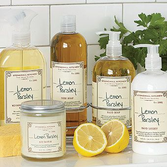 Lemon Parsley - hand wash/lotion, candle, cleaning products