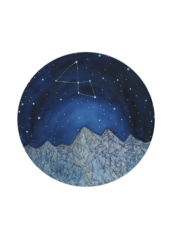 This is a listing for an astronomy and natural history inspired giclee print. your print is on 5 by 7 inch archival quality matte paper,