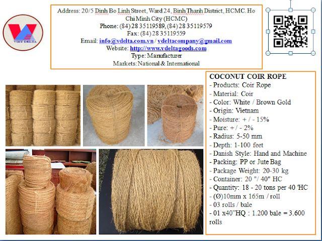 Coconut coir rope: COCONUT COIR ROPE