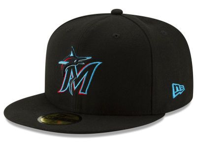 big sale 3771a 937e8 Miami Marlins New Era MLB Authentic Collection 59FIFTY Cap